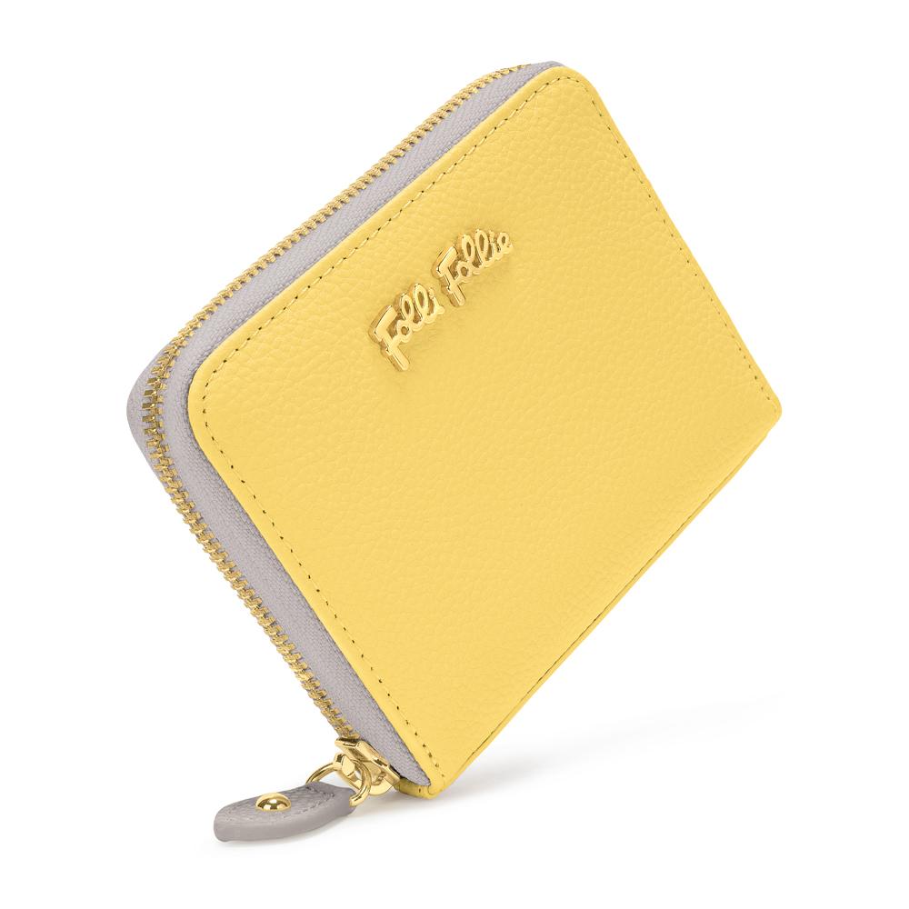 83e7342754 FOLLI FOLLIE – Γυναικείο πορτοφόλι με φερμουάρ FOLLI FOLLIE κίτρινο