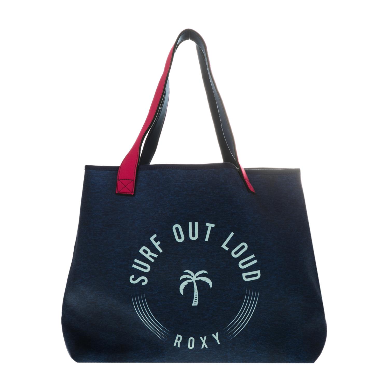 ROXY - Γυναικεία τσάντα θαλάσσης ROXY INSIDE THE ROCK J TOTE μπλε γυναικεία αξεσουάρ εξοπλισμός παραλίας τσάντες   εργαλεία μεταφοράς