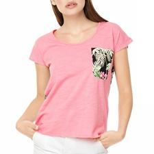 FUNKY BUDDHA-Γυναικείο t-shirt FUNKY BUDDHA ροζ - φλοράλ