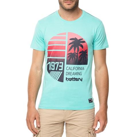 3a6e419a2b11 Ανδρικό t-shirt BATTERY πράσινο με στάμπα (1680909.0-006b)