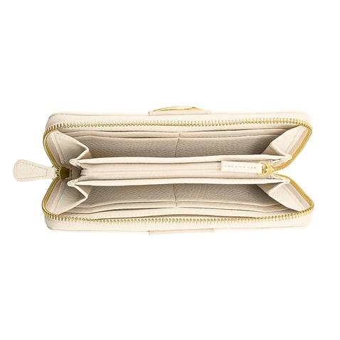 c9ef60af0c Γυναικείο μεγάλο πορτοφόλι με φερμουάρ FOLLI FOLLIE εκρού (1681209.0 ...