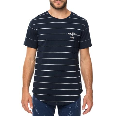 ffa14f7cd2d3 Ανδρική κοντομάνικη μπλούζα QUIKSILVER CAPERROCKS μπλε με ρίγες  (1681403.0-0011)