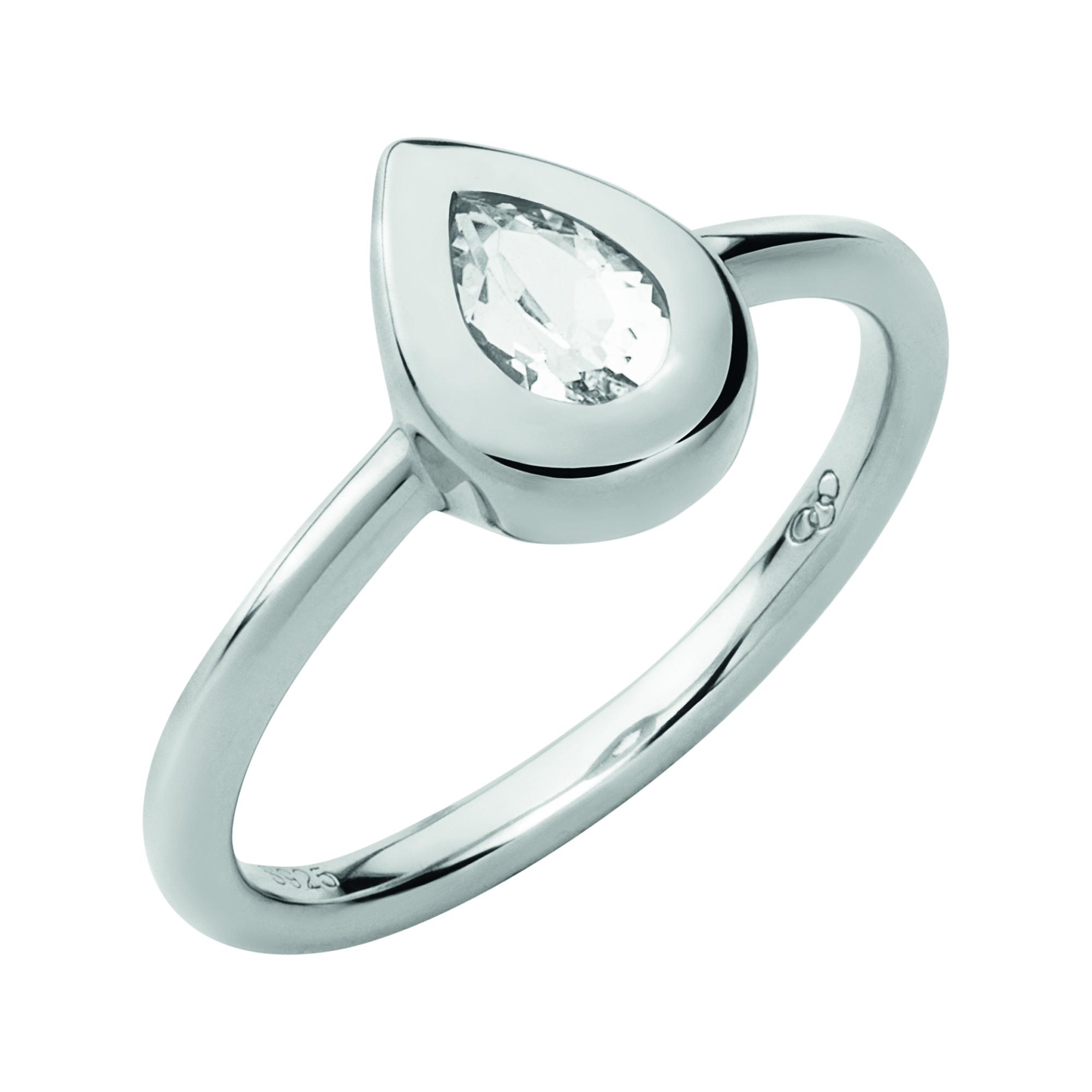 LINKS OF LONDON - Ασημένιο δαχτυλίδι ROSE DEW - μέγεθος 51 γυναικεία αξεσουάρ κοσμήματα δαχτυλίδια