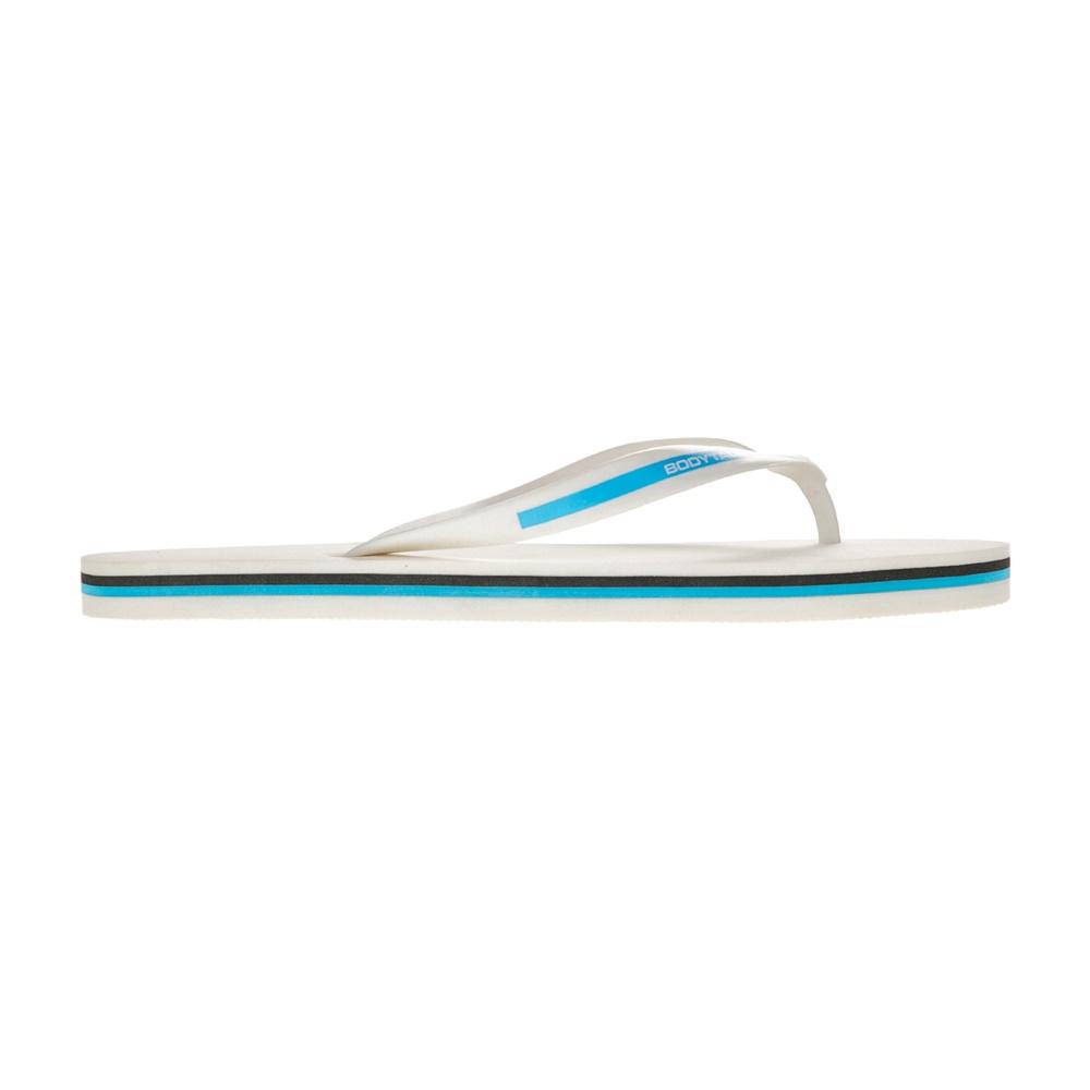 BODYTALK - Ανδρικές σαγιονάρες SDLM BODYTALK λευκές - μπλε ανδρικά παπούτσια σαγιονάρες slides casual