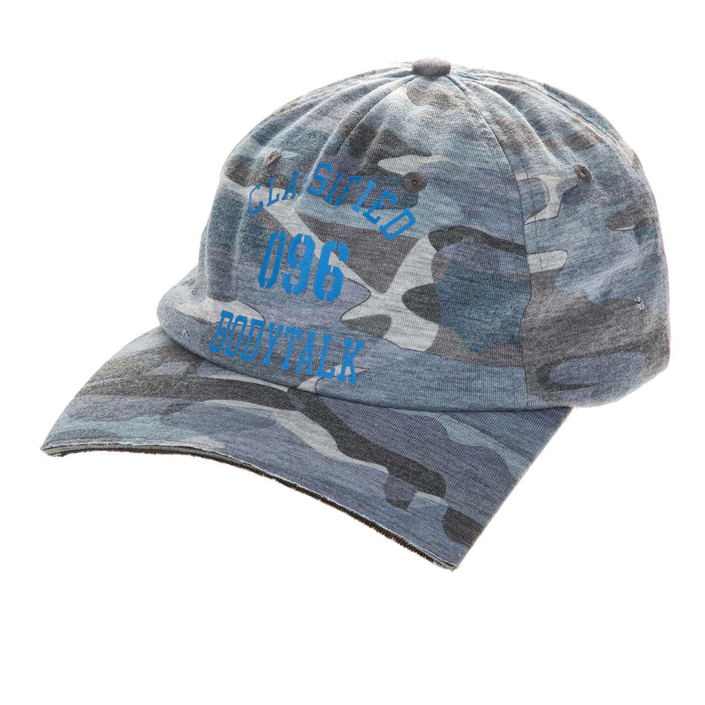 BODYTALK - Unisex καπέλο jockey CLASSIFIED BODYTALK γκρι παραλλαγής ανδρικά αξεσουάρ καπέλα casual