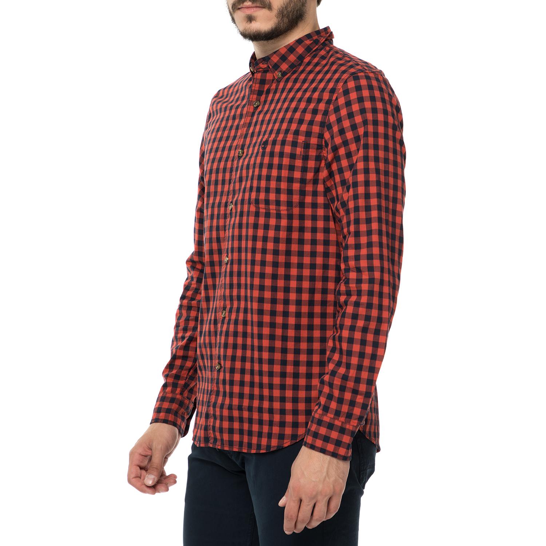 8913c3ea8843 TIMBERLAND - Ανδρικό μακρυμάνικο καρό πουκάμισο TIMBERLAND SUNCOOK RIVER  κόκκινο - μαύρο