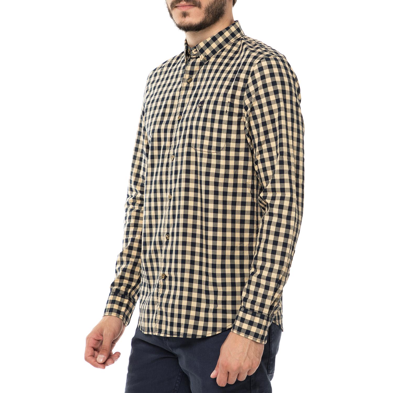 c9270a2ad9c6 TIMBERLAND - Ανδρικό μακρυμάνικο καρό πουκάμισο TIMBERLAND SUNCOOK RIVER  κίτρινο-μαύρο