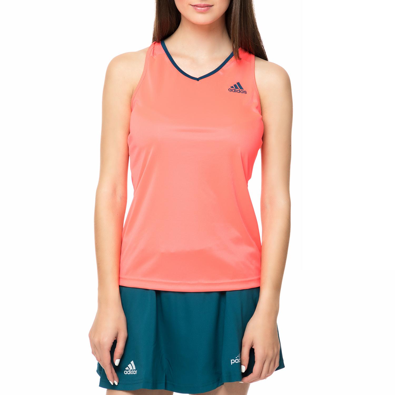 adidas - Γυναικείο αθλητικό φανελάκι adidas CLUB πορτοκαλί γυναικεία ρούχα μπλούζες κοντομάνικες