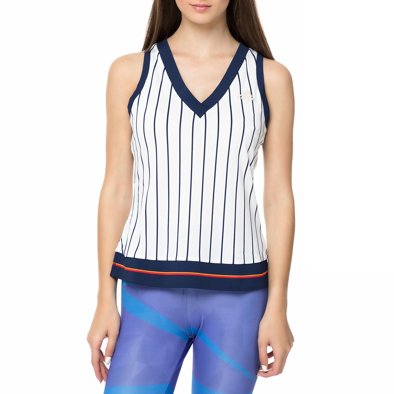 2dc31f7964e adidas – Γυναικεία αθλητική αμάνικη μπλούζα NEW YORK adidas ριγέ ...