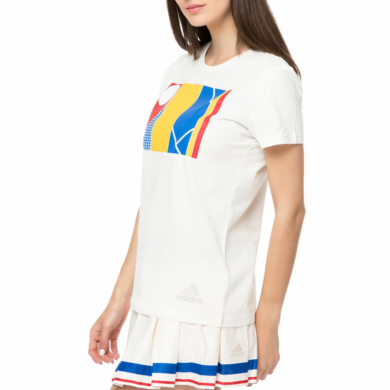 a3dc2291db adidas - Γυναικείο t-shirt για τέννις adidas New York Graphic λευκό ...