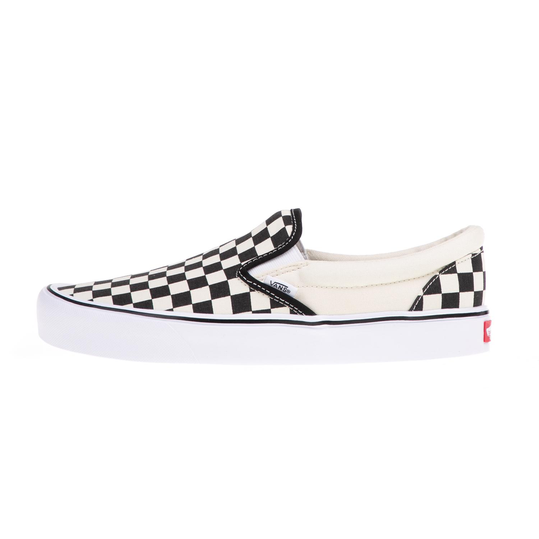 VANS – Unisex slip-on sneakers VANS Classic μαύρα-λευκά Lite