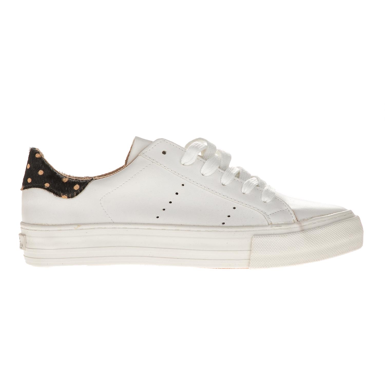FUNKY BUDDA – Γυναικεία sneakers με λεπτομέρεια FUNKY BUDDHA λευκά 268da20e85b
