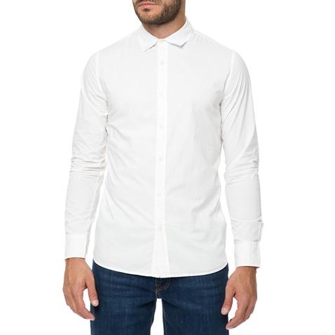 0e2a99cd51d1 Ανδρικό μακρυμάνικο πουκάμισο FUNKY BUDDHA λευκό (1683896.0-9100) | Factory  Outlet
