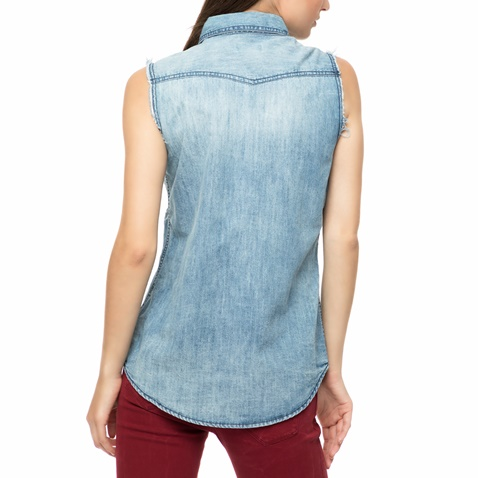 4a93277762ed Γυναικείο αμάνικο τζιν πουκάμισο FUNKY BUDDHA μπλε (1683918.0-j200 ...