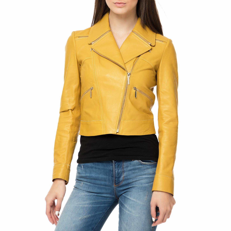 ARMA MAYS & ROSE - Γυναικείο δερμάτινο μπουφάν GRACE Sheep κίτρινο γυναικεία ρούχα πανωφόρια μπουφάν