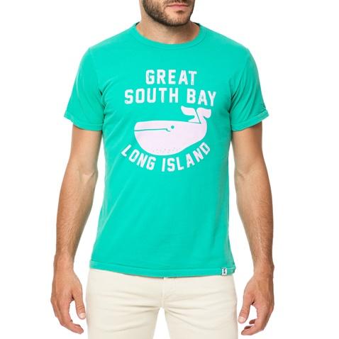 fad91ceb8d65 Ανδρικό t-shirt HAMPTONS πράσινο με στάμπα WHALE (1684362.0-6b00 ...