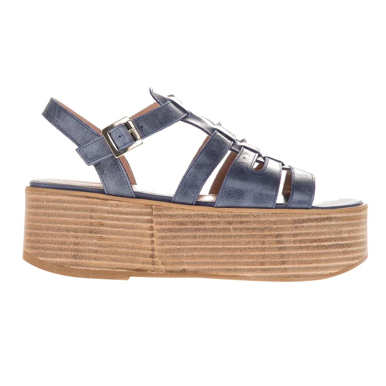CHANIOTAKIS - Γυναικεία flatforms MAVERICK 746 μπλε γυναικεία παπούτσια πλατφόρμες