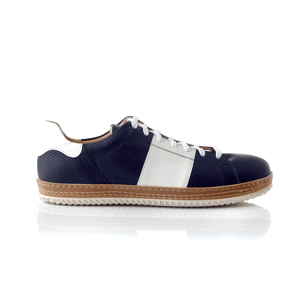 CHANIOTAKIS – Ανδρικά sneakers SPORT COLANDER μπλε-λευκά