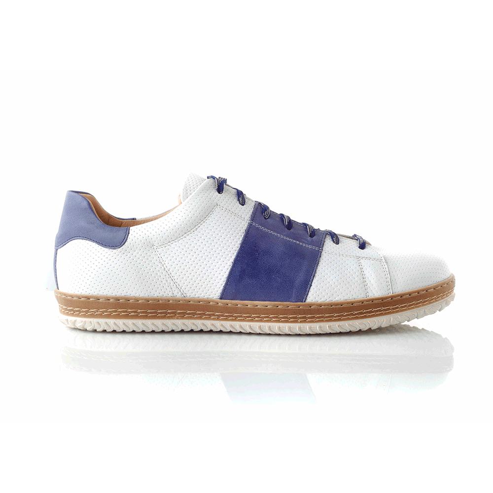 CHANIOTAKIS – Ανδρικά sneakers SPORT COLANDER λευκά-μπλε