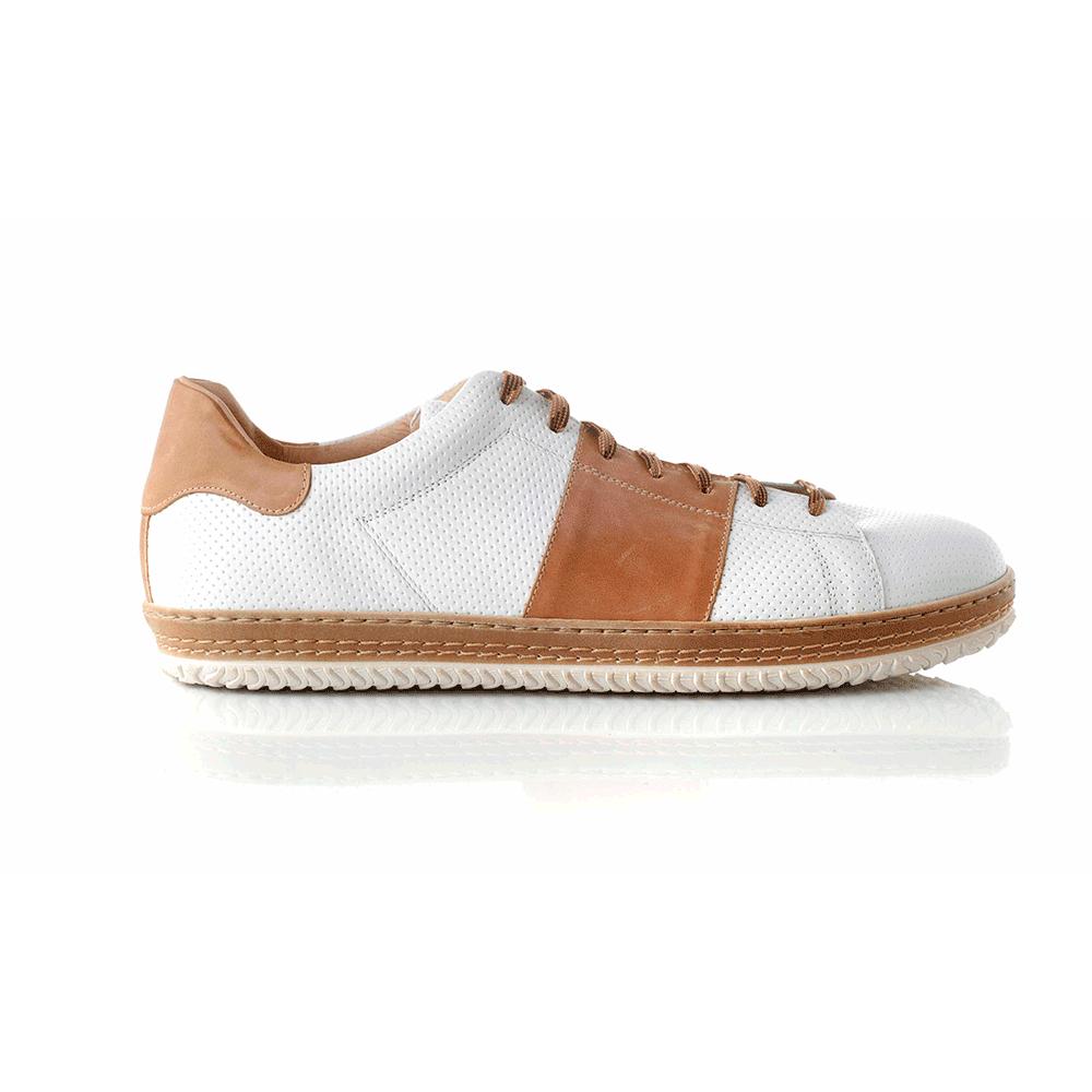 CHANIOTAKIS – Ανδρικά sneakers SPORT COLANDER λευκά-καφέ