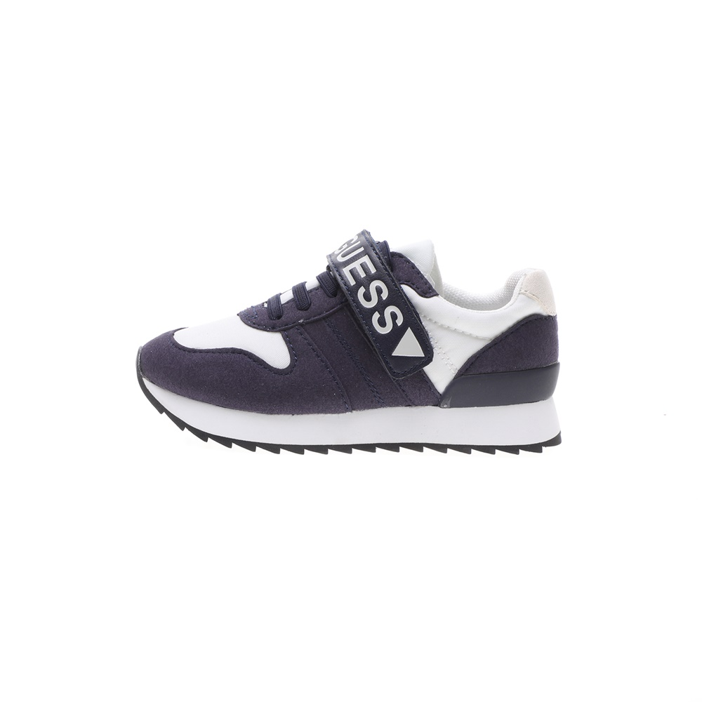 GUESS KIDS – Παιδικά sneakers GUESS KIDS RUDY LOW λευκά μπλε