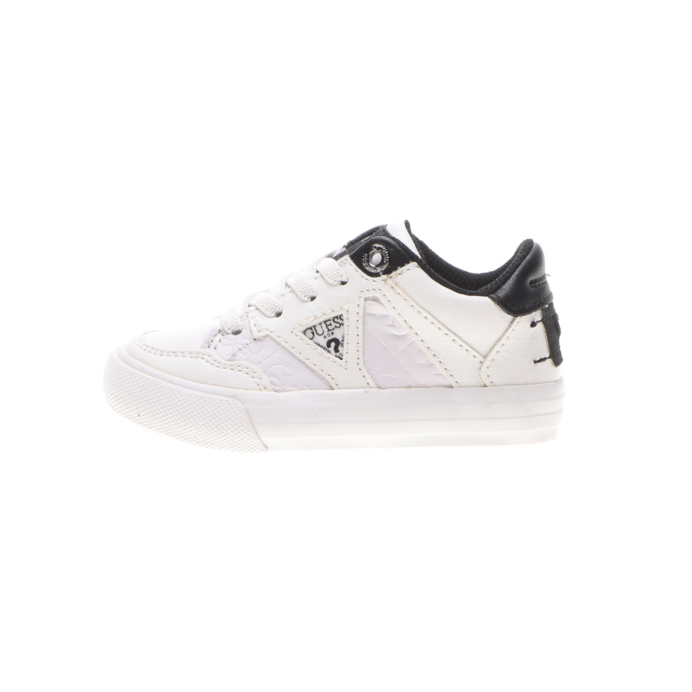 GUESS KIDS – Παιδικά sneakers GUESS KIDS JR BRIAN LOW λευκά μαύρα