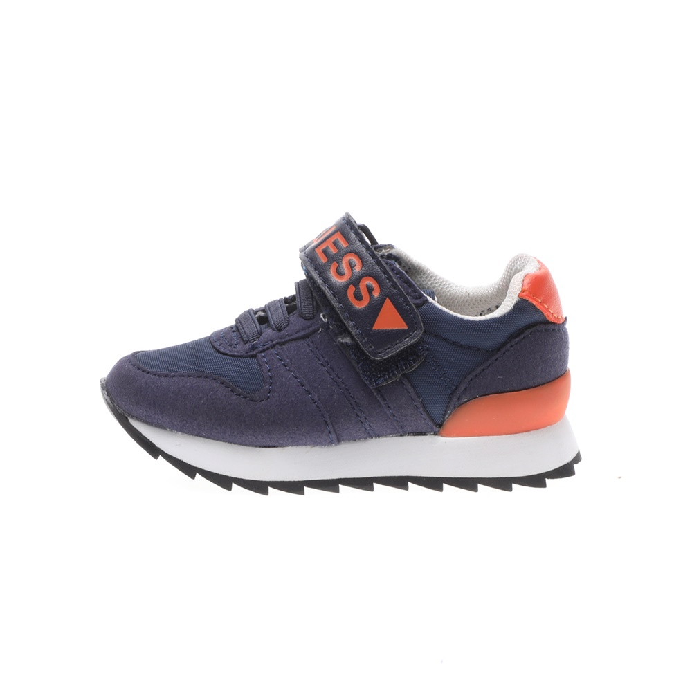 GUESS KIDS – Παιδικά sneakers GUESS KIDS RUDY LOW μπλε πορτοκαλί