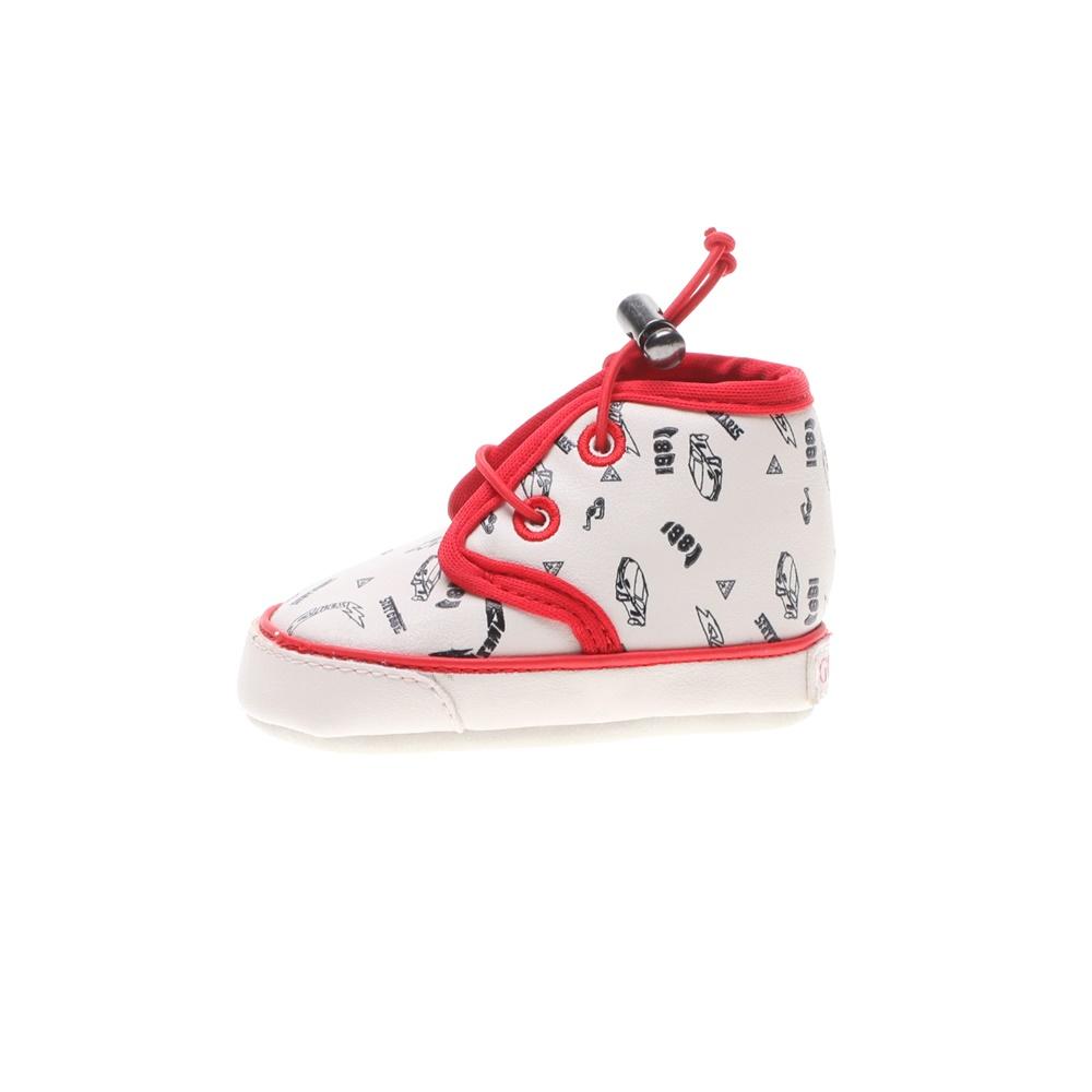 GUESS KIDS – Βρεφικά παπούτσια αγκαλιάς GUESS KIDS NEAL λευκά κόκκινα