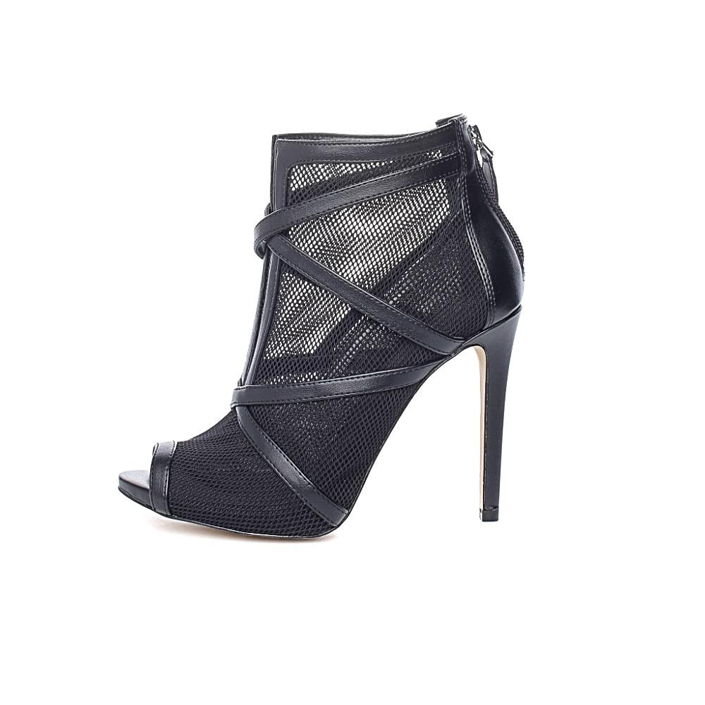 GUESS – Γυναικεία peep-toe μποτάκια ADALIND2 GUESS μαύρα