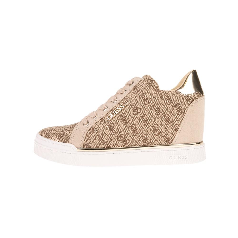 GUESS – Γυναικεία sneakers GUESS FLOWURS μπεζ
