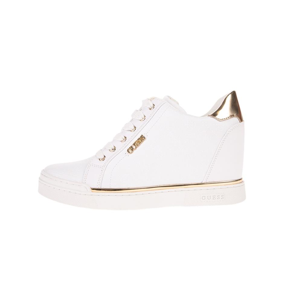 GUESS – Γυναικεία sneakers GUESS FLOWURS λευκά
