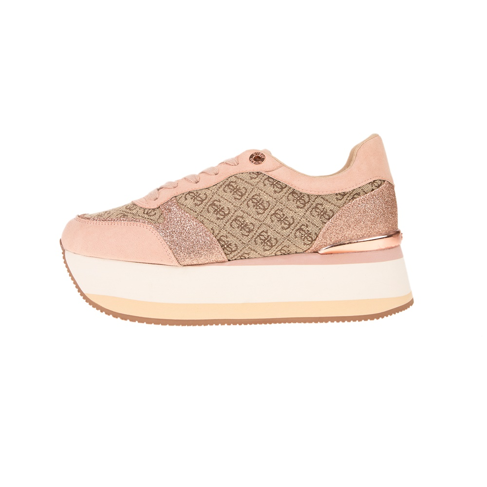 GUESS – Γυναικεία sneakers GUESS HINDERS μπεζ
