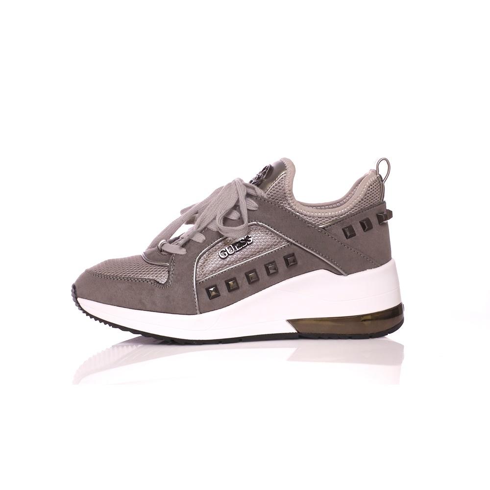 GUESS – Γυναικεία sneakers GUESS JULYANN γκρι – ασημί