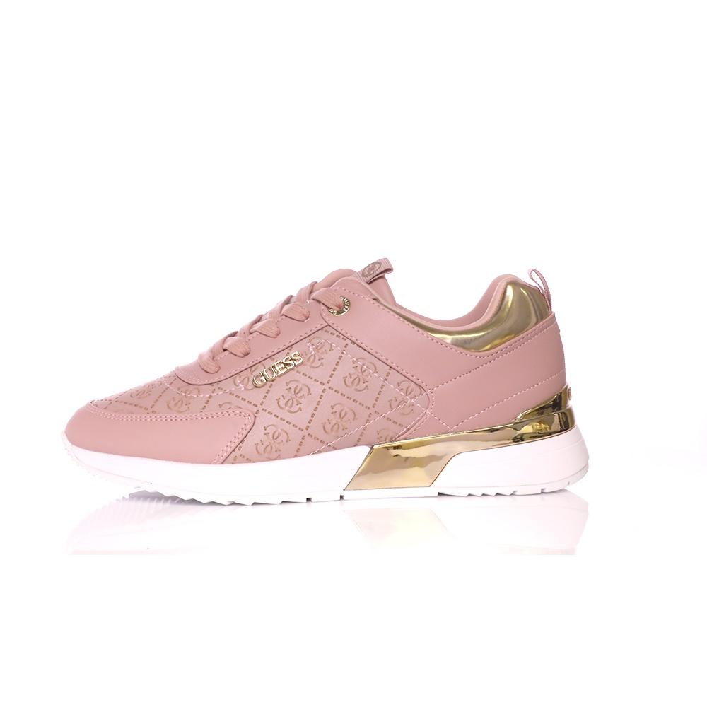 GUESS – Γυναικεία sneakers GUESS MARLYN μπεζ – χρυσό