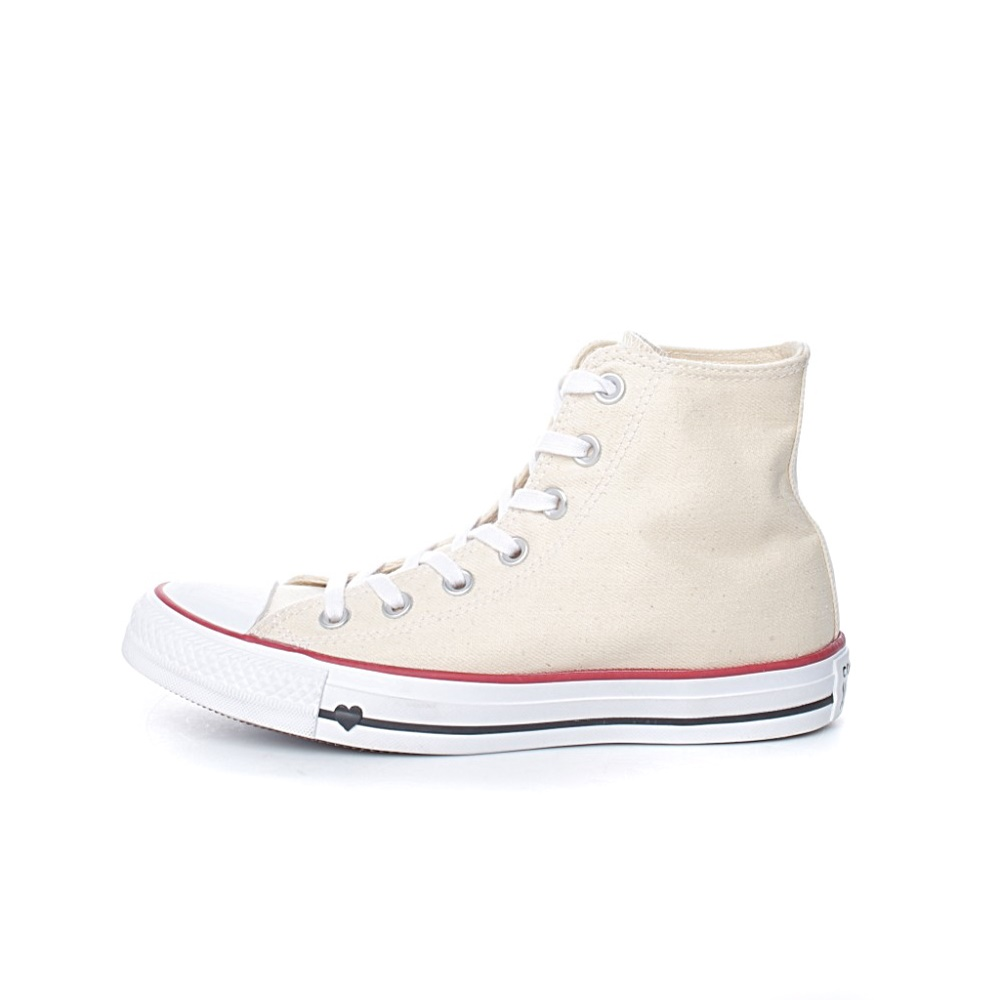 CONVERSE – Unisex sneakers Converse Chuck Taylor All Star Hi Denim Love μπεζ