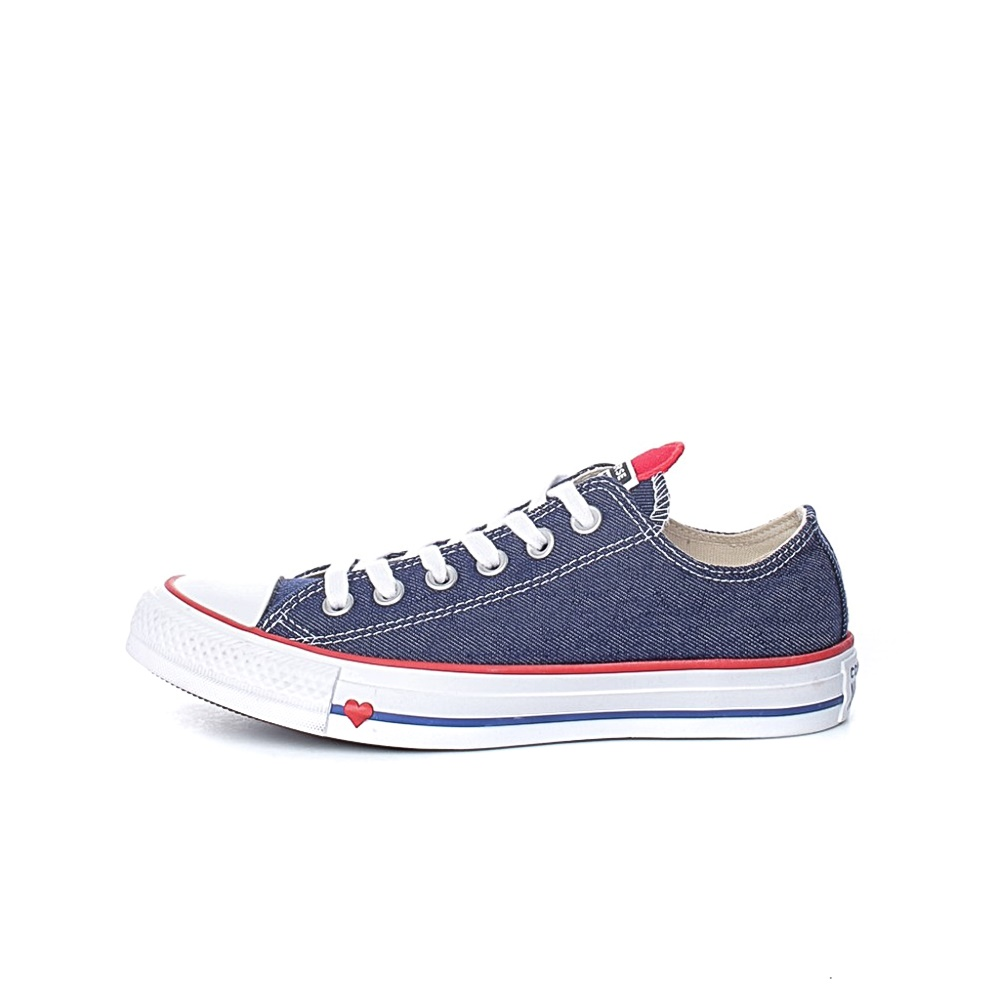 CONVERSE – Unisex sneakers Converse Chuck Taylor All Star Denim Love μπλε