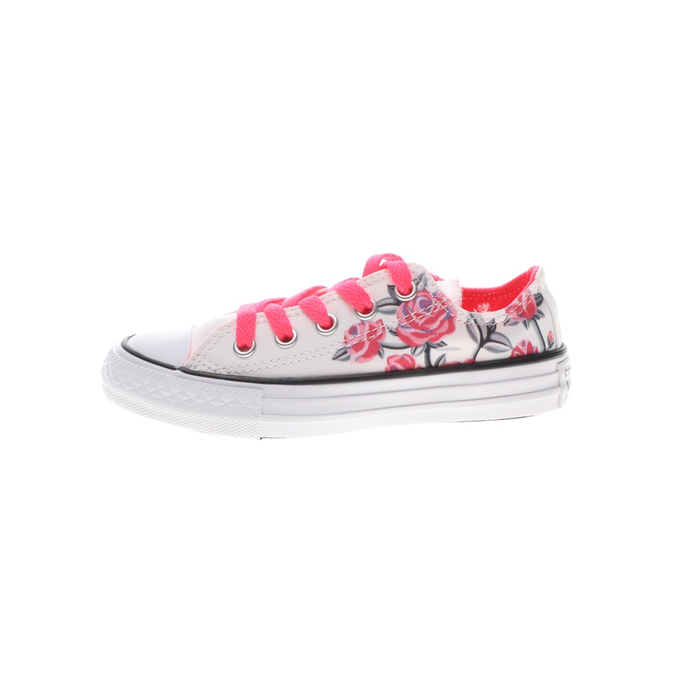 CONVERSE – Παιδικά sneakers CONVERSE Chuck Taylor All Star Ox λευκά φούξια