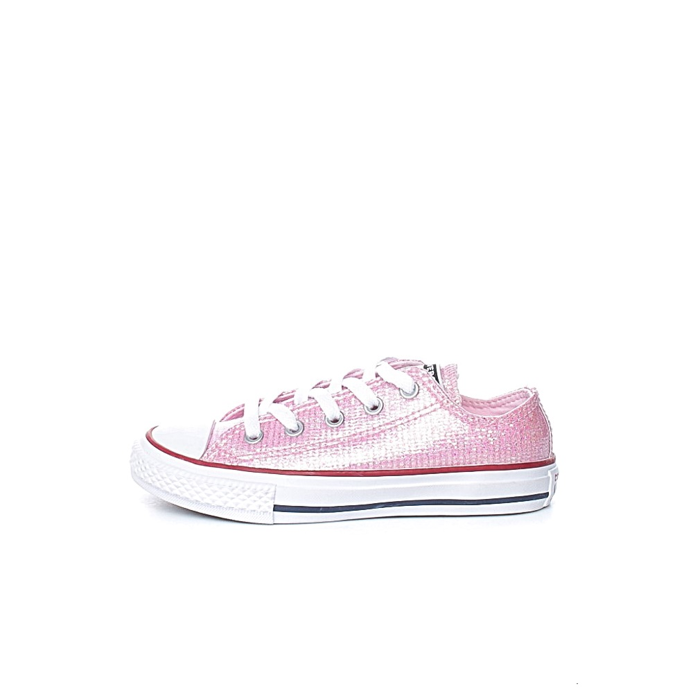 CONVERSE – Παιδικά sneakers με glitter CONVERSE Chuck Taylor All Star ροζ