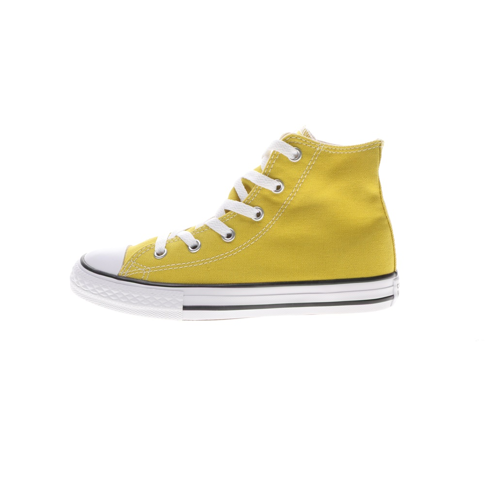 CONVERSE – Παιδικά sneakers CONVERSE Chuck Taylor All Star Hi κίτρινα