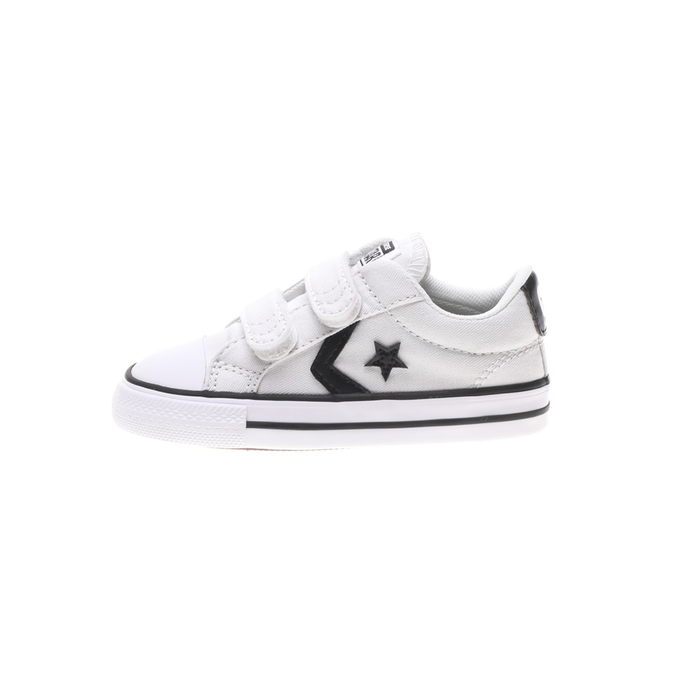 CONVERSE – Βρεφικά sneakers CONVERSE Star Player 2V λευκά μαύρα