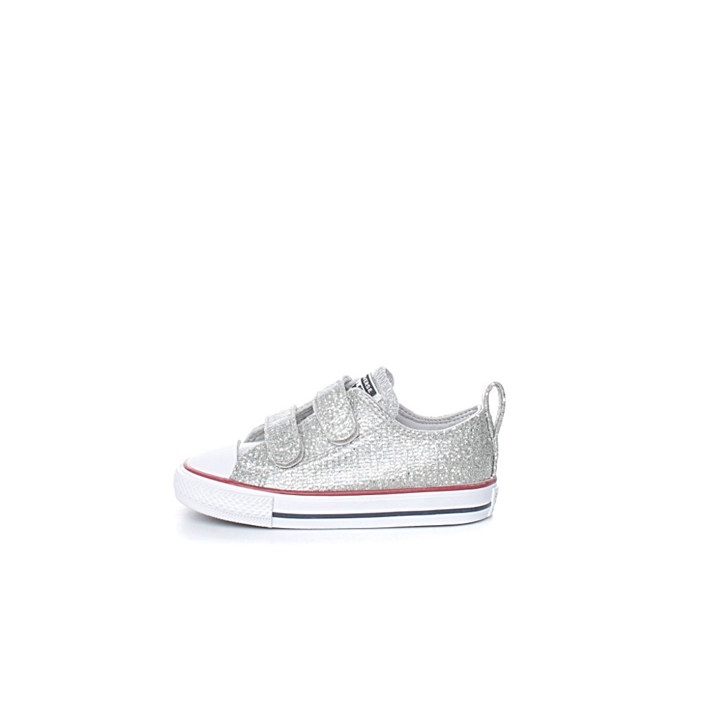 CONVERSE – Βρεφικά sneakers Chuck Taylor All Star 2V ασημί