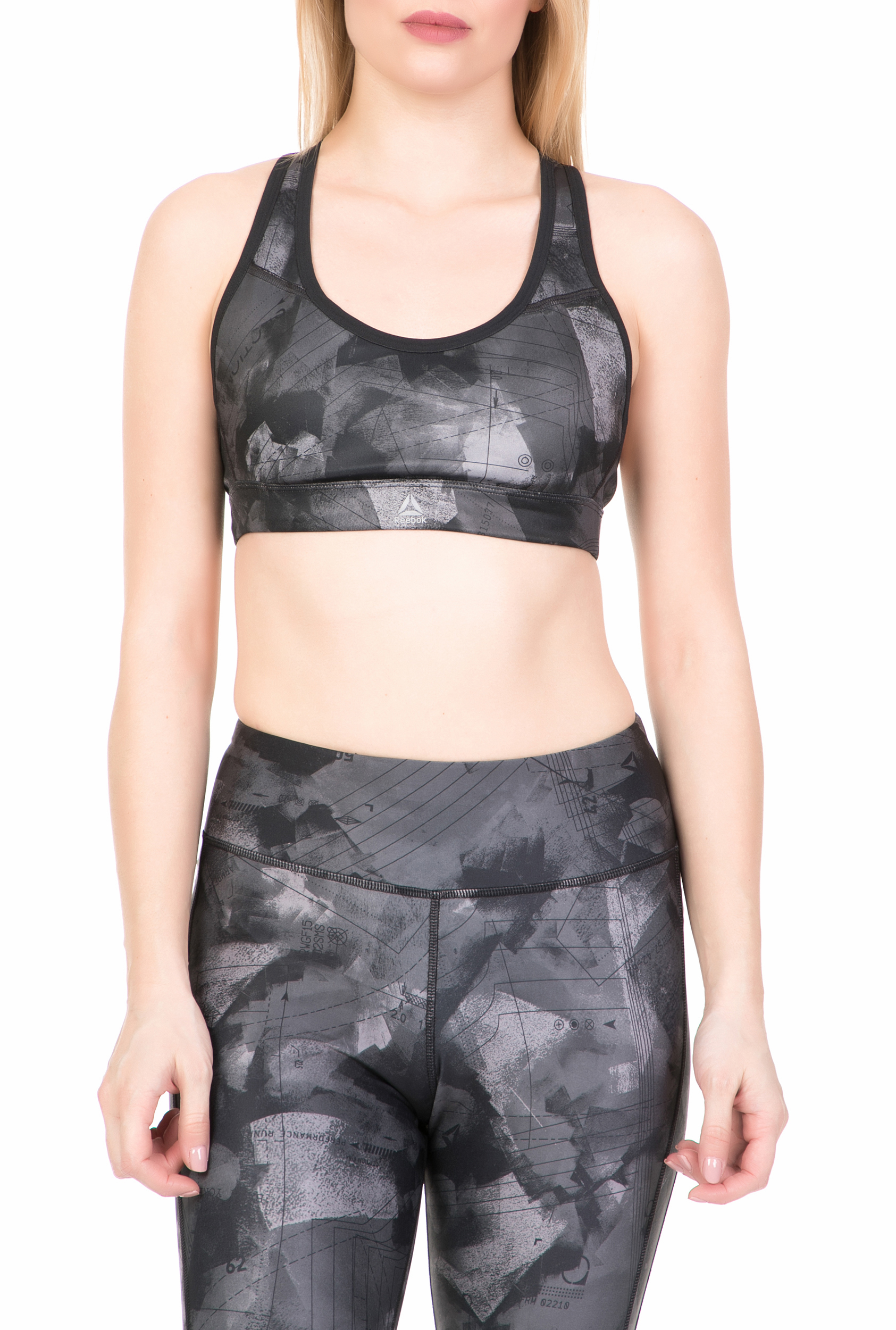 REEBOK - Γυναικείο αθλητικό μπουστάκι RUN BRA 1 PADDED REEBOK μαύρο