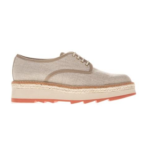916ec7886cb1 Γυναικεία παπούτσια με κορδόνια MAFALDA CASTANER μπεζ (1689728.0-m301) |  Factory Outlet