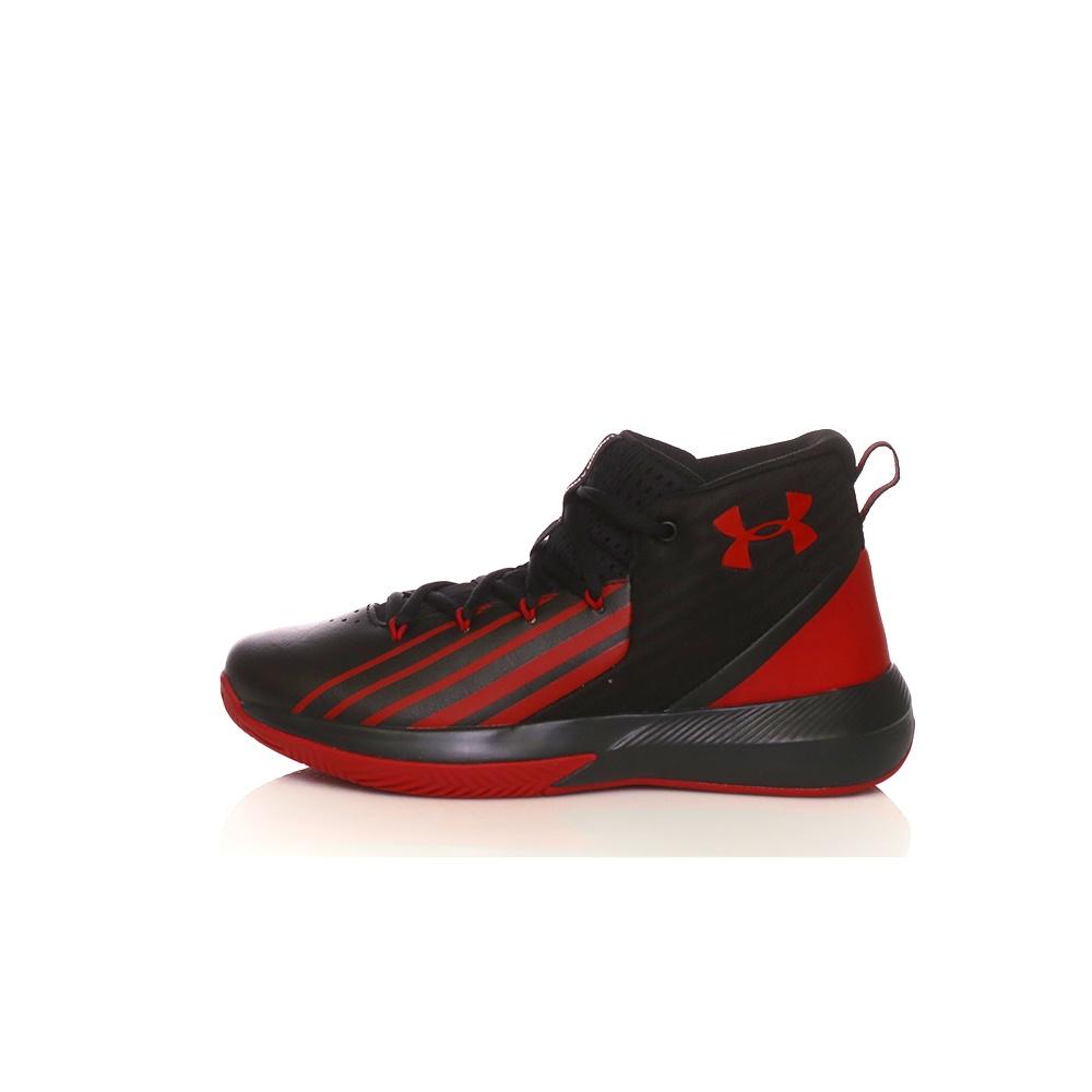 UNDER ARMOUR – Παιδικά παπούτσια μπάσκετ UA BGS Lockdown 3 μαύρα-κόκκινα