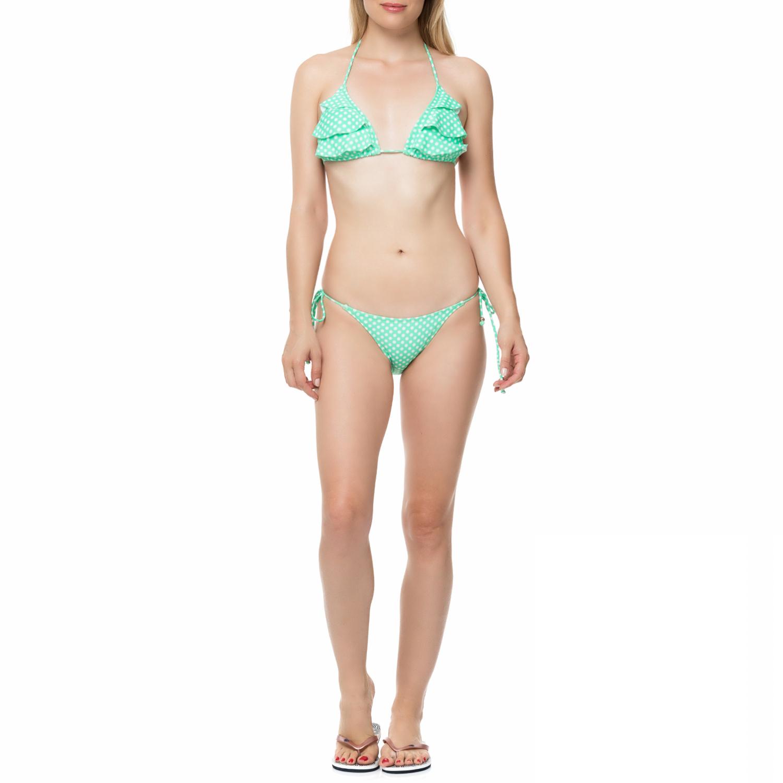 OCEAN BLUE – Γυναικείο μπικίνι OCEAN BLUE FUNKY DOTS ανοιχτό πράσινο με πουά 9b5575efb1a