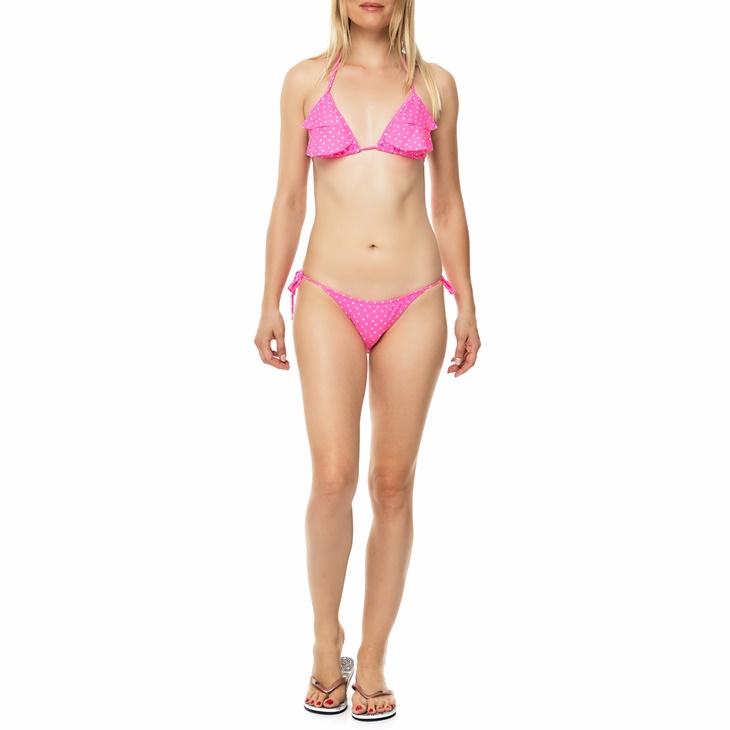 Γυναικείο μπικίνι OCEAN BLUE FUNKY DOTS ροζ με πουά μοτίβο ... 41ab96aa50f