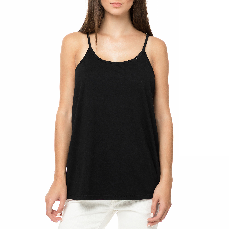 REPLAY - Γυναικείο αμάνικο τοπ με ανοιχτή πλάτη REPLAY μαύρο γυναικεία ρούχα μπλούζες τοπ