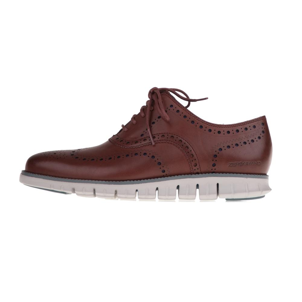 COLE HAAN – Ανδρικά παπούτσια oxford COLE HAAN ZEROGRAND WINGTIP γκρι καφέ