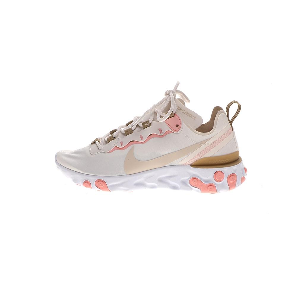 NIKE – Γυναικεία παπούτσια running NIKE REACT ELEMENT 55 μπεζ καφέ