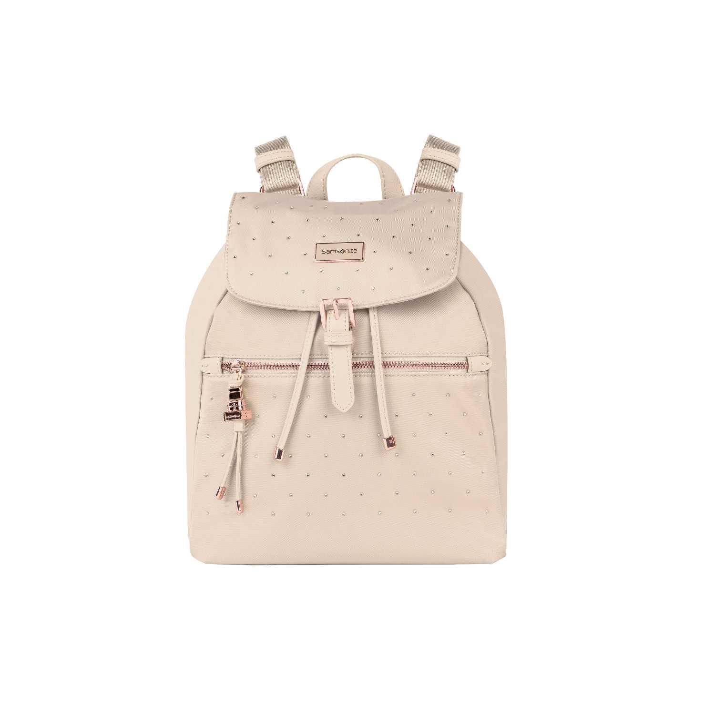 5930101426 SAMSONITE - Γυναικεία τσάντα πλάτης SAMSONITE KARISSA εκρού ...